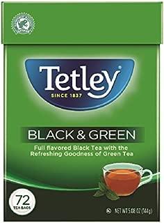 Tetley Tea Bags, Black and Green, 72 Count