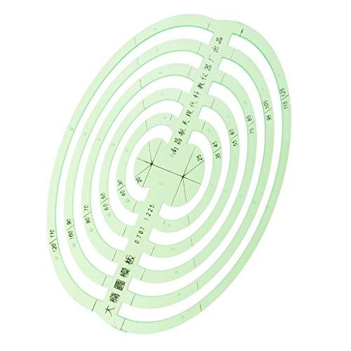 B Baosity Große Ovale Kunststoff Multifunktionale Zeichnungsvorlage Zeichnung Lineal Technisches Zeichnen Abrundungsschablone - Große ovale, 14,2 x 10 cm