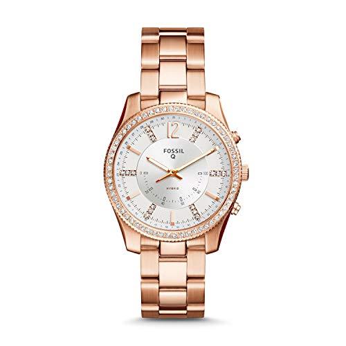 Fossil Hybrid Donna Smartwatch Scarlette Q - Acciaio inossidabile tono oro rosa FTW5016