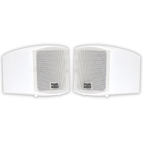 Acoustic Audio AA321W Mountable Indoor Speakers 400 Watts White Bookshelf Pair