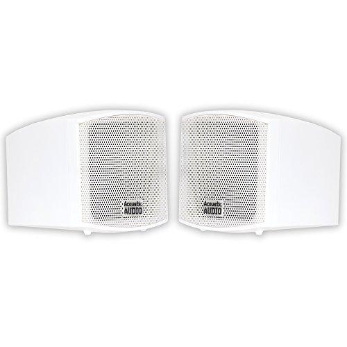 Save %6 Now! Acoustic Audio AA321W Mountable Indoor Speakers 400 Watts White Bookshelf Pair
