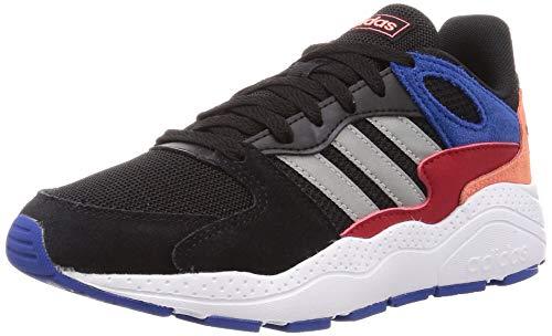 Adidas CRAZYCHAOS J, Zapatillas para Correr Unisex Adulto, Core Black/Matte Silver/Team Royal Blue, 39 1/3 EU