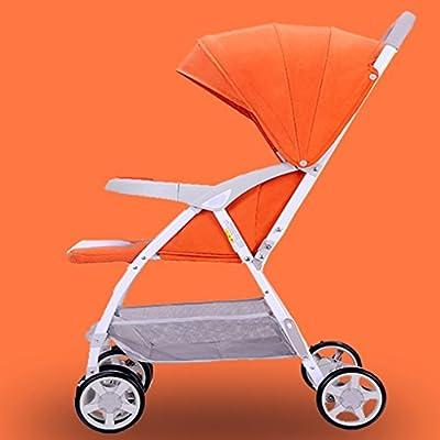 Cochecitos de bebé Baby Trolley Light Collapsible Suspension Umbrella Car Multifunction Baby Umbrella Car Four Round Durable Wheels Sillas de carro (Color : B)