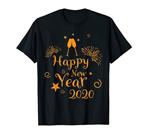 Silvester Sekt anstoßen - Feuerwerk 2020 Frohes Neues Jahr T-Shirt