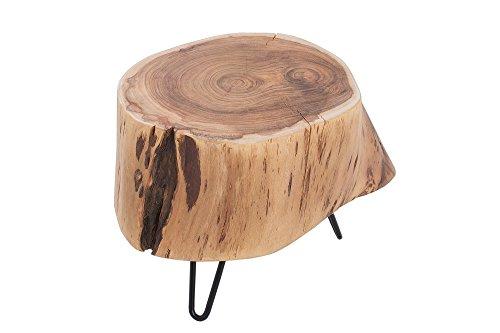 DuNord Design Acacia houten salontafel van massief hout Acacia 35 cm Acacia Plant Table