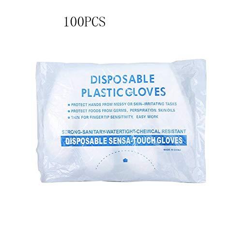 Einweghandschuhe aus durchsichtigem Kunststoff Arbeitshandschuhe aus Polyethylen Lebensmittelzubereitungshandschuhe Puder- und latexfreie Handschuhe 100-tlg