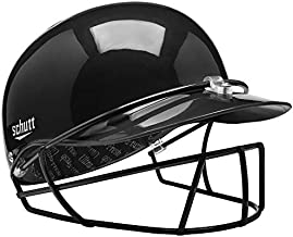Schutt Sports Pitcher's Protector Baseball/Softball Head and Face Protection, Black, Small