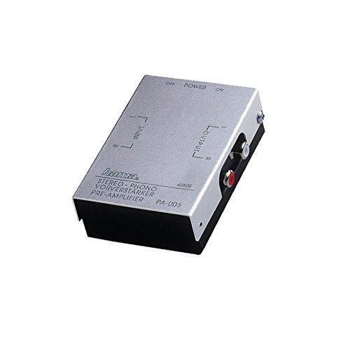 Hama Stereo Phono-förförstärkare PA 005 (lämplig för plattspelare, ljudpuls eller PC-ljudkort, RIAA-avkänning) silver