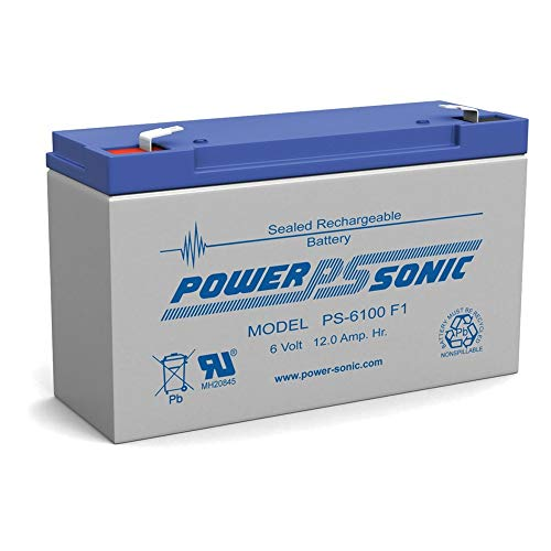 Powersonic PS-6100 6V 12AH NPX-50 SLA10-6 BP10-6 GP6120 ES12-6 Battery