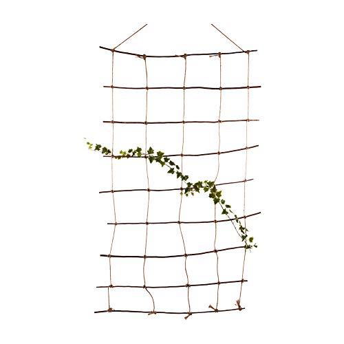 Nature by Kolibri Rankleiter, Rankgitter, Rankhilfe aus natürlicher Weide und Juteschnur 115x200