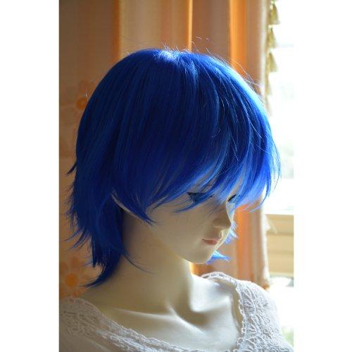 "Liz Wig Sexy Heat Friendly Short Layered Wavy Curly Lolita Princess Cosplay Party Hair Wig 14"" 35cm (Royal Blue)"