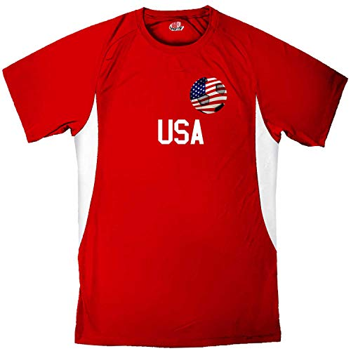 Custom USA Soccer Ball 1 Jersey Youth Large in Scarlet and White