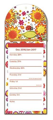 Robert Frederick 2017 magnetische kalender pad marsepein bloemen, kunststof, gesorteerd