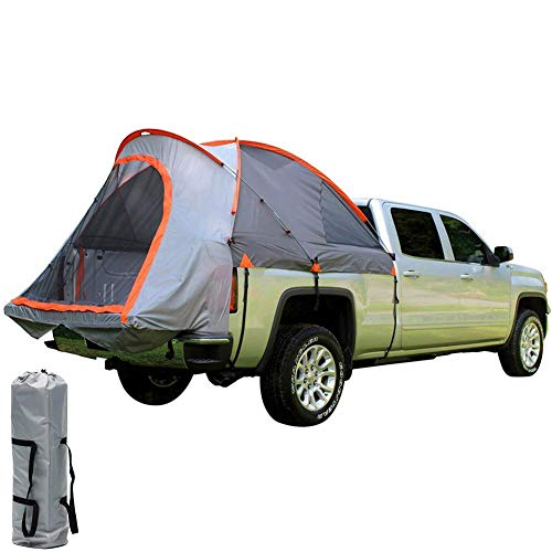LLSS Pickup Truck Tent Fold Car Tail Tent Windproof Rain-Proof Awning Suitable for 2 Persons Camping Fishing Hiking Caving Picnic Traveling Sun Shelter