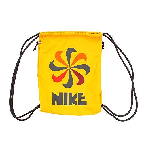 NIKE NK Heritage GMSK 3-GFX, Bolsa de tela y de playa Unisex Adultos, Multicolor (Yellow Ochre/Dark Ch), 8x15x20 cm (W x H x L)