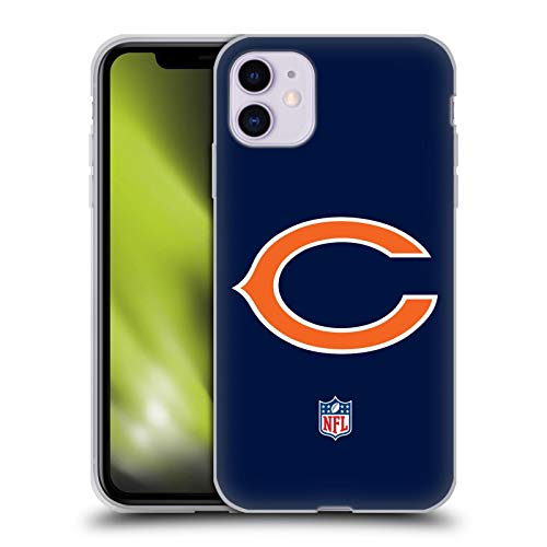 Head Hülle Designs Offiziell Zugelassen NFL Einfarbig Chicago Bears Logo Soft Gel Handyhülle Hülle Huelle kompatibel mit Apple iPhone 11