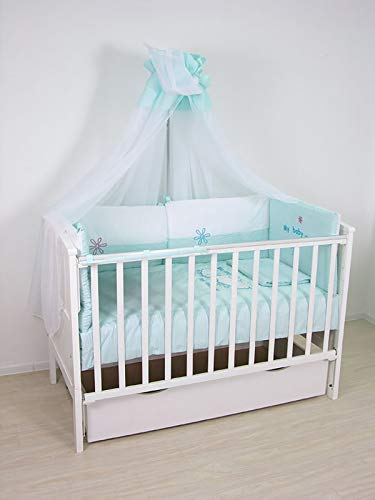 Polini Kids Baby-Bettwäsche Set 140x70 'Weiße Schäfchen' 7-tlg,1260.100