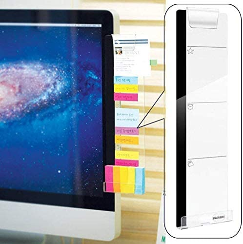 Monitor Memo Board Monitor Sticky Note Holder Acrylic Concise Message Memo Panel for Screen product image