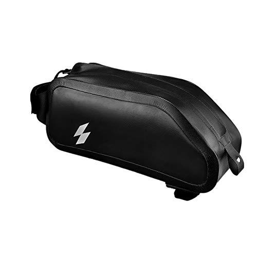 Bike Handlebar Bag Bicycle Triangle Frame Bag Bicycle Handlebar Bag Waterproof Storage Bag Riding Accessory Bag for Road MTB Outdoor (Color : Black, Size : 1L)