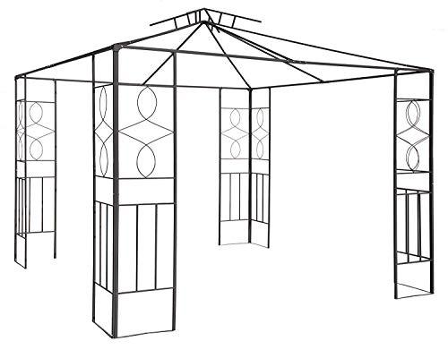 habeig Pavillongestell Metalll Pavillon 3x3m Pavillion Ersatzgestänge Gartenpavillon Ersatzgestell (Gestell Romantika)