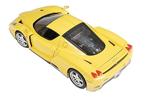 TAMIYA 300024301 1:24 Enzo Ferrari Giallo Modena, originalgetreue Nachbildung, Modellbau, Plastik Bausatz, Basteln, Hobby, Kleben, Plastikbausatz, Zusammenbauen, unlackiert