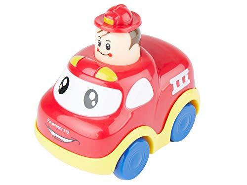 Bieco Drück & Los Flitzer Feuerwehr, Rückzug Spielzeugautos ab 12 Monaten