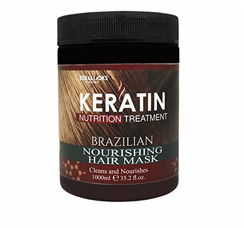 Keralooks professional keratin Brazilian nourishing hair mask (1000ml)