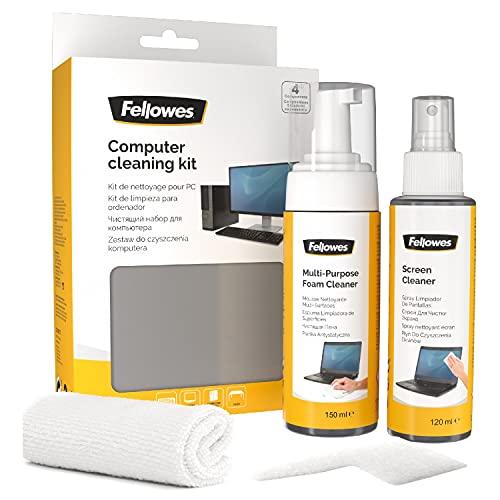 Fellowes Kit di Pulizia per PC, Spray 125 ml, Schiuma...