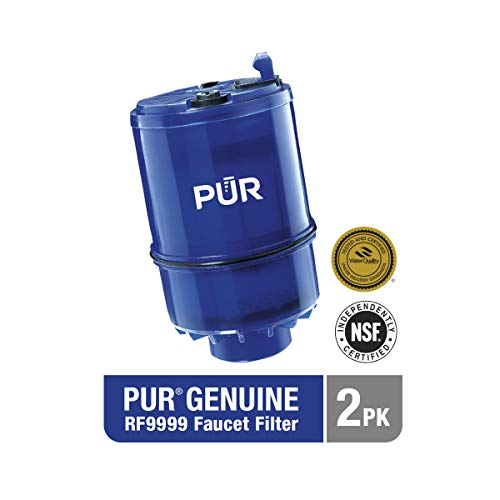 PUR MineralClear Faucet Mount Replacement Water Filter Refill, 2 Pack, Water Filter Replacement for Sink Faucet Mounted Water Filter Systems, Filters Up To 100 Gallons of Water, RF-9999