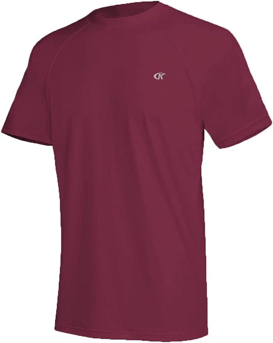 Satankud Men's UPF Daily bargain sale 50+ Rashguard Swim S Tee Sleeve Running Short List price