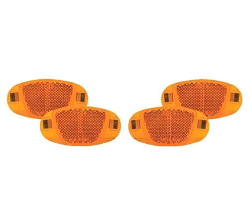 P4B   4X Speichen Reflektoren   Mit Nirosta Klammern   Mit starker Reflektionsfunktion und Sichtbarkeit für hohe Sicherheit   StVZO zugelassen   Katzenaugen - Reflektoren