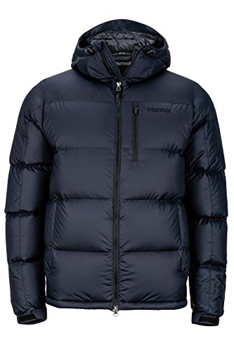 Marmot Men's Guides Down Hoody Winter Puffer Jacket, Fill Power 700, Jet Black, X-Large