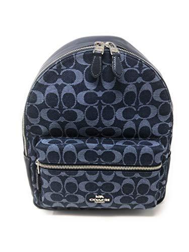 Coach Medium Charlie Backpack Daypack Laptop Bag (SV/Denim)