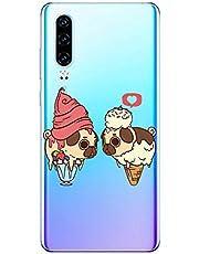 Oihxse Transparente Funda para Huawei P9 Ultrafina Silicona Suave TPU Carcasa Interesante Perro Patrón Flexible Protectora Estuche Antigolpes Anti-Choque (A7)