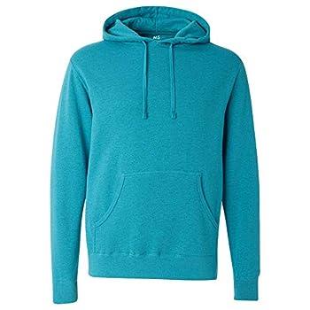 Marc Stevens Unisex Ultra Soft Pullover Hooded Sweatshirt - MS22076 Turquoise Heather - Large