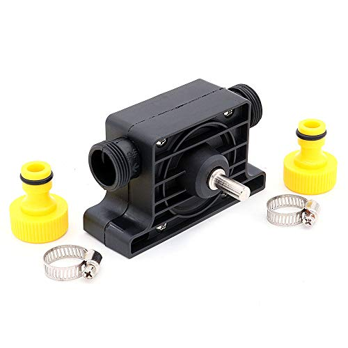 NUZAMAS Drill Water Pump, Self Priming, Electric Drill Powered Pump with Water Hose Quick Connectors, Suitable for Fish Tank, Aquarium, Pond, Statuary, Garden Fountain