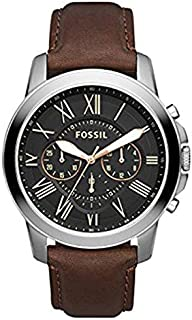Fossil Men's BlaCK Dial Mixed Band Watch - FS4813IE
