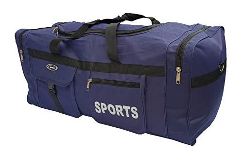 P.I.Sport N.Y. Große Sporttasche XL, 110 l. Tasche für Sport, Fitnessstudio, Reisen, Camping, Aufbewahrung. Wasserdicht. XXL blau