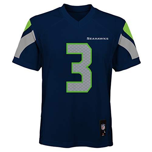 Russell Wilson Seattle Seahawks Kids 4-7 Navy Blue Home Mid-Tier Jersey (5/6)