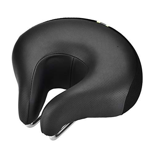 Rehomy Ergonómico Bicicleta de Montaña Bicicleta de Ciclismo Asiento de Asiento con Forma de Nariz Dividida (Negro)