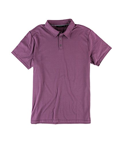 Marc Anthony Mens Slim-Fit Rugby Polo Shirt, Purple, XX-Large
