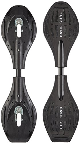 Soul Curl Erwachsene Caster Wave Board Pro mit Tasche Casterboard, Black, 34 Inch