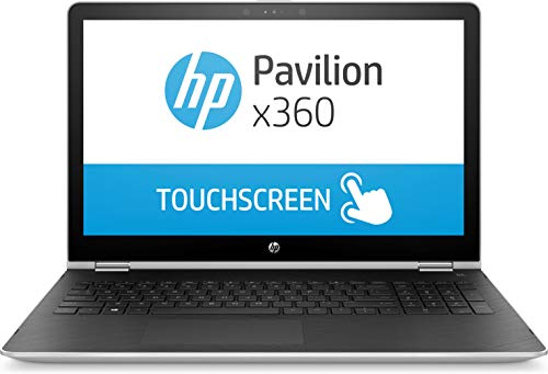 HP 15-br080wm X360 15.6' HD Touchscreen i5-7200U 2.5GHz 8GB RAM 1TB HDD Win 10 Home Mineral Silver