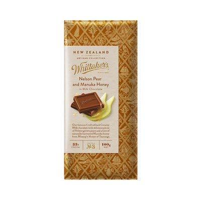 【whittaker's】アーティザンコレクション ペア&マヌカハニー ミルクチョコレート(340000203)