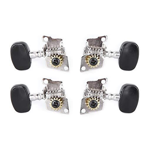 Clavijas de afinación de ukelele, afinador de ukelele de metal práctico para guitarra de 4 cuerdas para ukelele