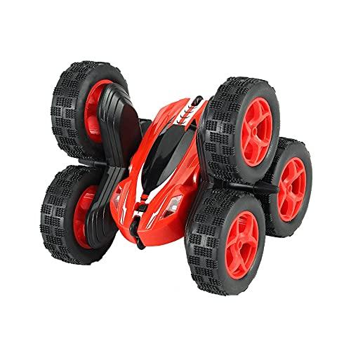 DFERGX 1:14 Stunt Flip Car RC Car Stunt Car 2.4G LED Seis Ruedas 360 ° Coche Giratorio Coche De Escalada Vehículo Todoterreno Coche De Juguete Eléctrico Regalos para Adultos Y Niños