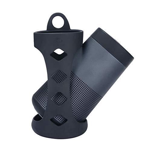 Coque Souple Bose-SoundLink Revolve, Sac de Transport Étui en Silicone pour Bose-SoundLink Revolve Revolve Bluetooth Haut-Parleur (Noir)