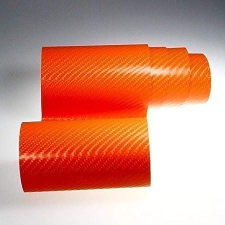 Tiptopcarbon 8 55 M Autofolie 4d Carbon Orange 152cm Breit Blasenfrei Mit Luftkanäle 3d Flex Selbstklebende Folie Auto Folierung Küche Haushalt