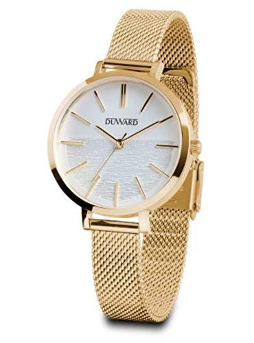 Reloj Duward Mujer en Acero Chapado en Oro 34mm de Caja. D25328.11
