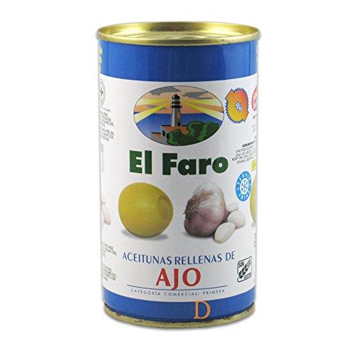 El Faro - Oliven mit Knoblauch Gefüllt - 150 g